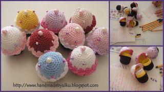 Gratis Häkelanleitung Muffin als Geburtstagseinladung / etcFree Crochet Pattern