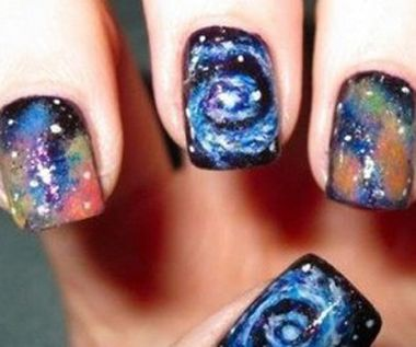 30 best images about saturn saturday on pinterest nail for Outer space nail design