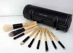 High-End Deluxe Bobbi Brown Makeup Brush Set 9 PC +Professional Black Brush Case