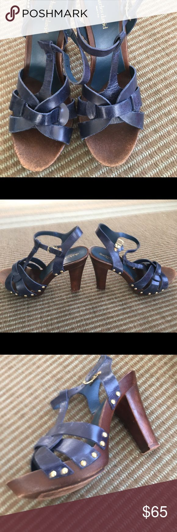 Charles David royal blue sandal high heel 7.5 Royal/midnight blue Charles David.  made in Italy.  Barely worn. 7.5 high heel.  Make me an offer Charles David Shoes Sandals