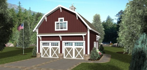 1000 images about garage ideas on pinterest traditional for Barn style garage with apartment plans
