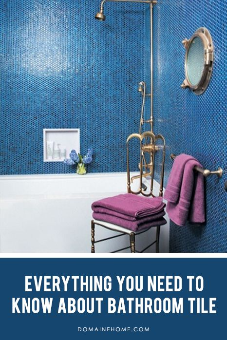 The Definitive Bathroom Tile GuideBathroom Design, Modern Bathroom, Blue Tile, Interiors Design, Bathroom Ideas, Tile Bathroom, Mosaics Tile, Bathroom Tile, Blue Bathroom
