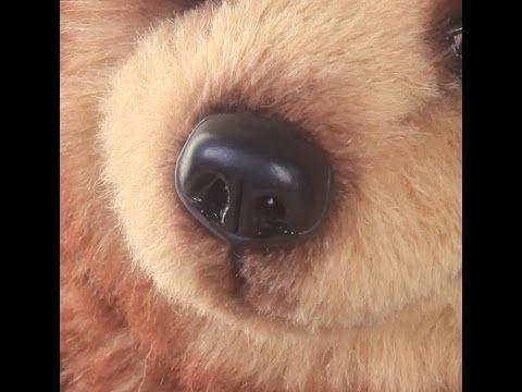 Лепка носа для мишки тедди. - YouTube