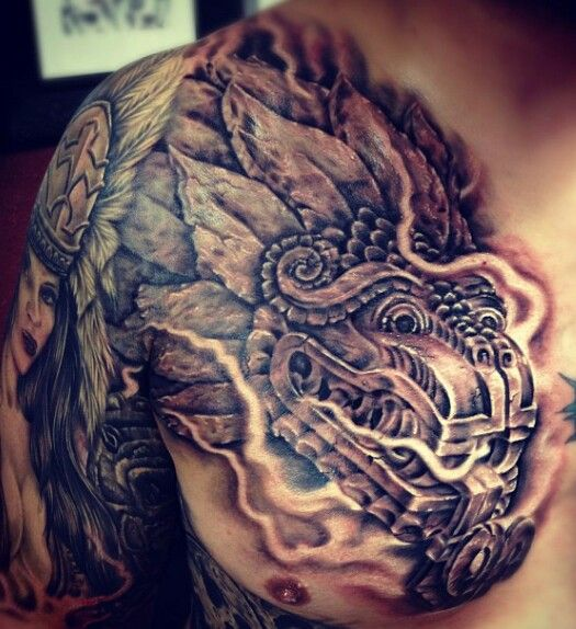 Aztec chest piece