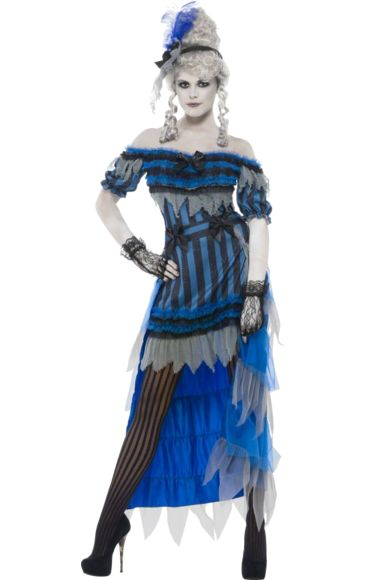 Halloween Ghost Saloon Girl Costume