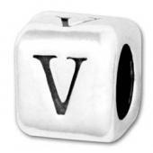 Fancy V style letter beads