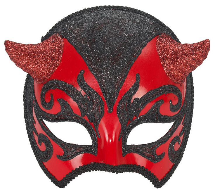 Black and Red Venetian Costume Mask