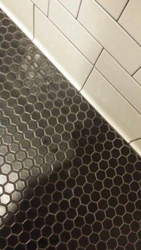Black Honeycomb Tile White Subway Tile Honeycomb Tile