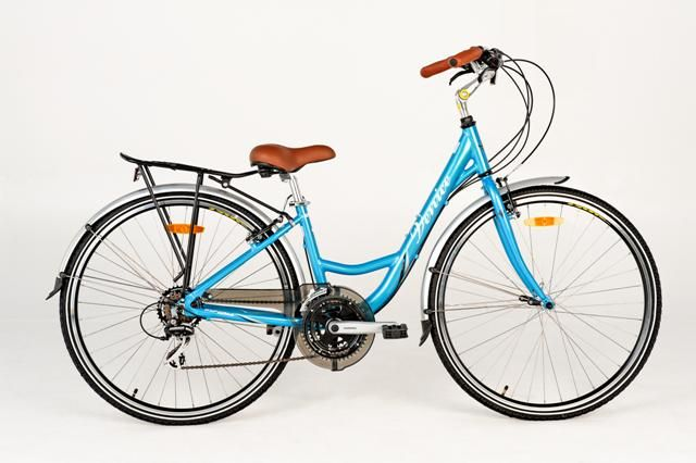 The Esperia Venice 21 - 21 speed, mudguards, rear rack and you can have it in blue or white