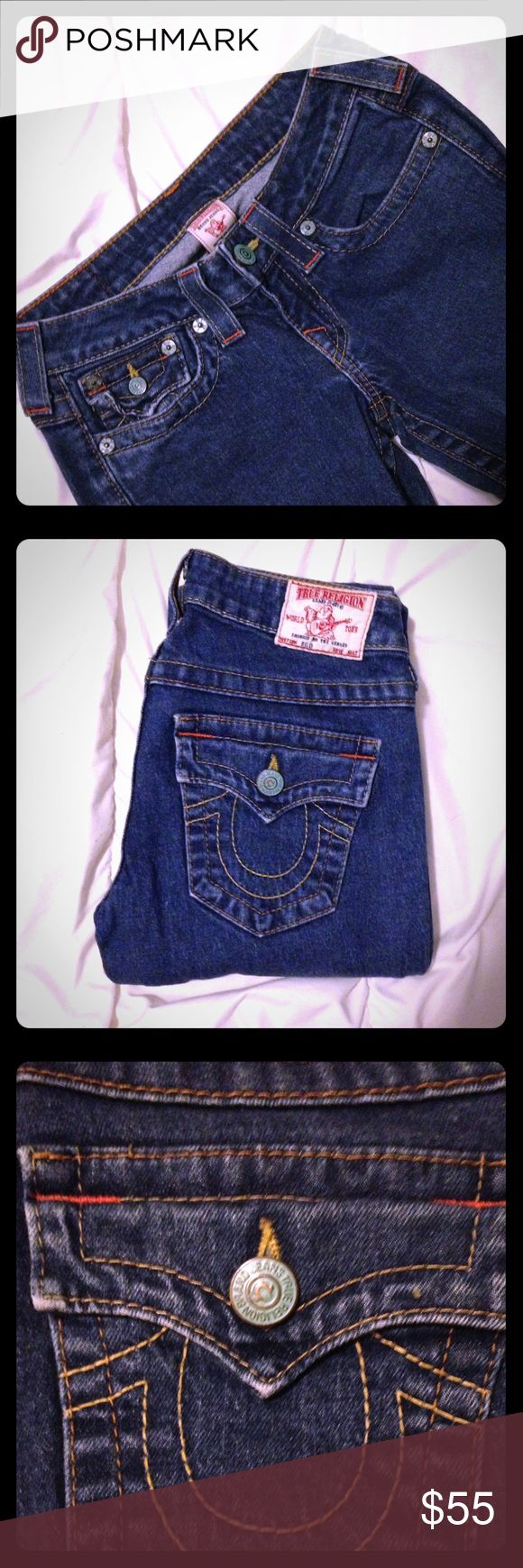 True Religion 'Billy' Jeans SZ 26 EUC True a Religion 'Billy' Jeans in a SZ 26. Skinny/Straight Style. No longer made with the green, oxidized buttons. No flaws or defects. *Its worth noting that TR has filed for bankruptcy, so get them while you can. Make an offer.:) True Religion Jeans