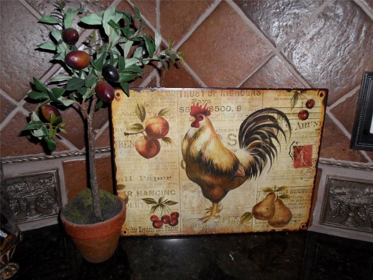 French Country Rooster Decor French Country Tuscan