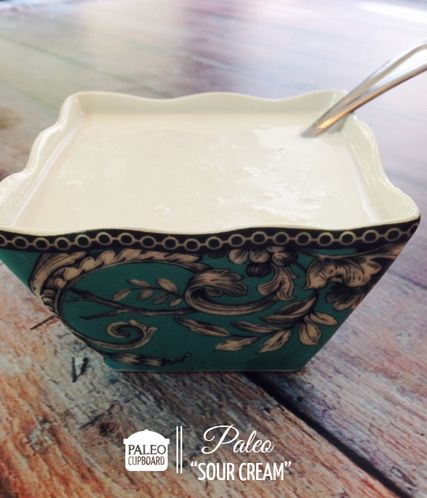 Paleo Sour Cream from paleocupboard.com