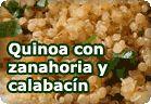 Quinoa con pasas, zanahoria y calabacín :: receta vegetariana