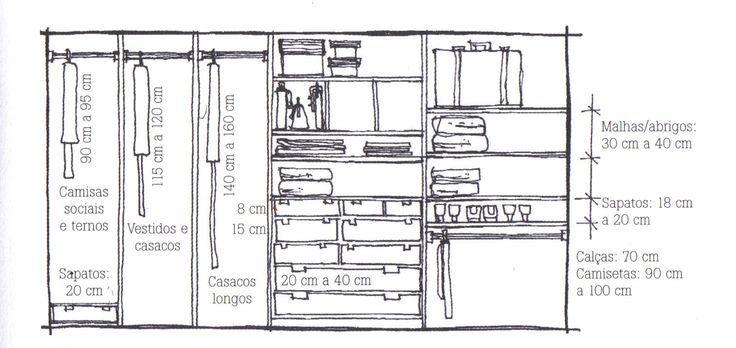 Qual a altura m nima para o cabideiro de cal a pesquisa for Altura de armario