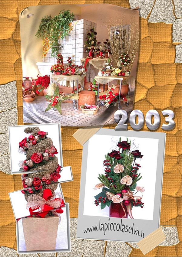 Silk and Dried flowers - Calendar cover 2003 #dried-flowers