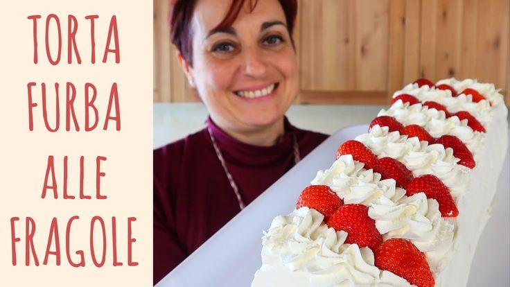 TORTA FURBA ALLE FRAGOLE Ricetta Facile - Strawberry Cake Easy Recipe