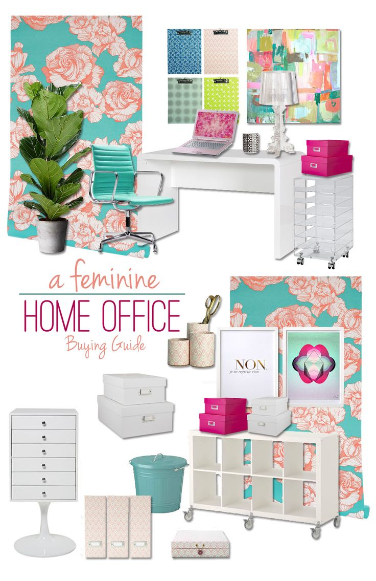 Touch of Turquoise: Feminine Home Office Buying Guide