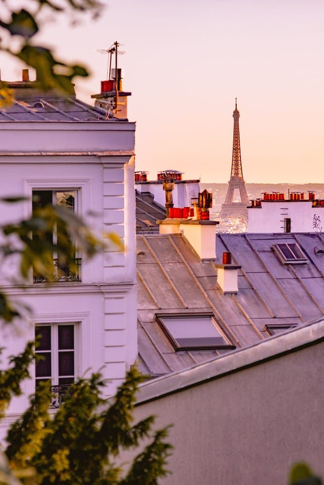 Paris rooftops & the Eiffel tower