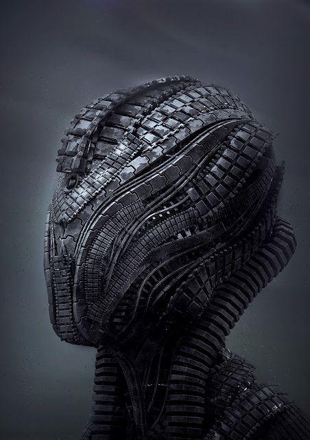 'tech head' | riyahd cassiem #robot #scifi #cyborg #illustration