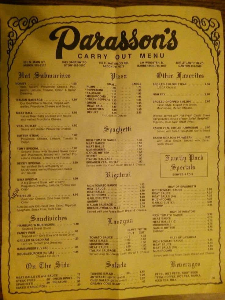 A favorite Akron restaurant of the past.