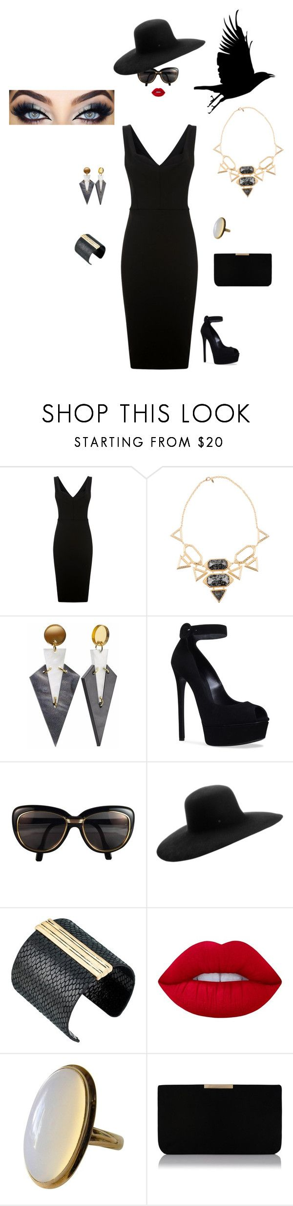 """""""DL"""" by hrockholt ❤ liked on Polyvore featuring Victoria Beckham, Isharya, Toolally, Casadei, Cartier, Maison Michel, The Sak, Lime Crime and L.K.Bennett"""