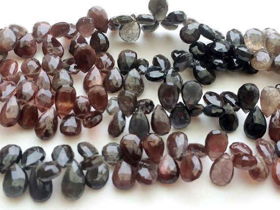 Andalusite Pear Beads Faceted Reddish Brown by gemsforjewels
