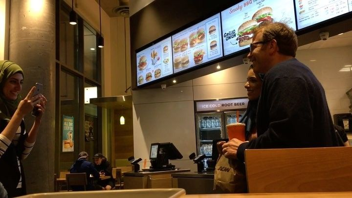 Spotted Paul Lieberstein who plays Tony Flanderson on The Office!  After my large @timhortons chili and bun and then my 3 @awcanada Double Buddy Burgers with Cheese (don't judge me) I saw girls ask a guy if he's Paul and he said yes. I assumed it was some kind of @tinder meeting. But then the girls asked for photos with him. Afterwoard I asked them who Paul is. They said he's Toby Flanderson on the office. I Googled and learned that he's Paul Lieberstein. I've never watched The Office…