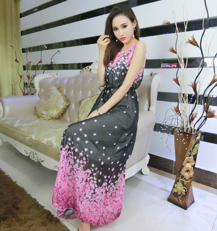 Sexy Long Dress Chiffon Black DS4073 » BAJEU ™
