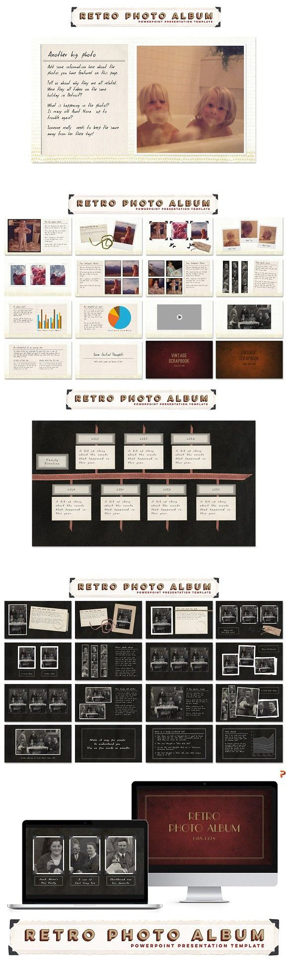 268 best powerpoint design images on pinterest business powerpoint retro photo album ppt template toneelgroepblik Gallery