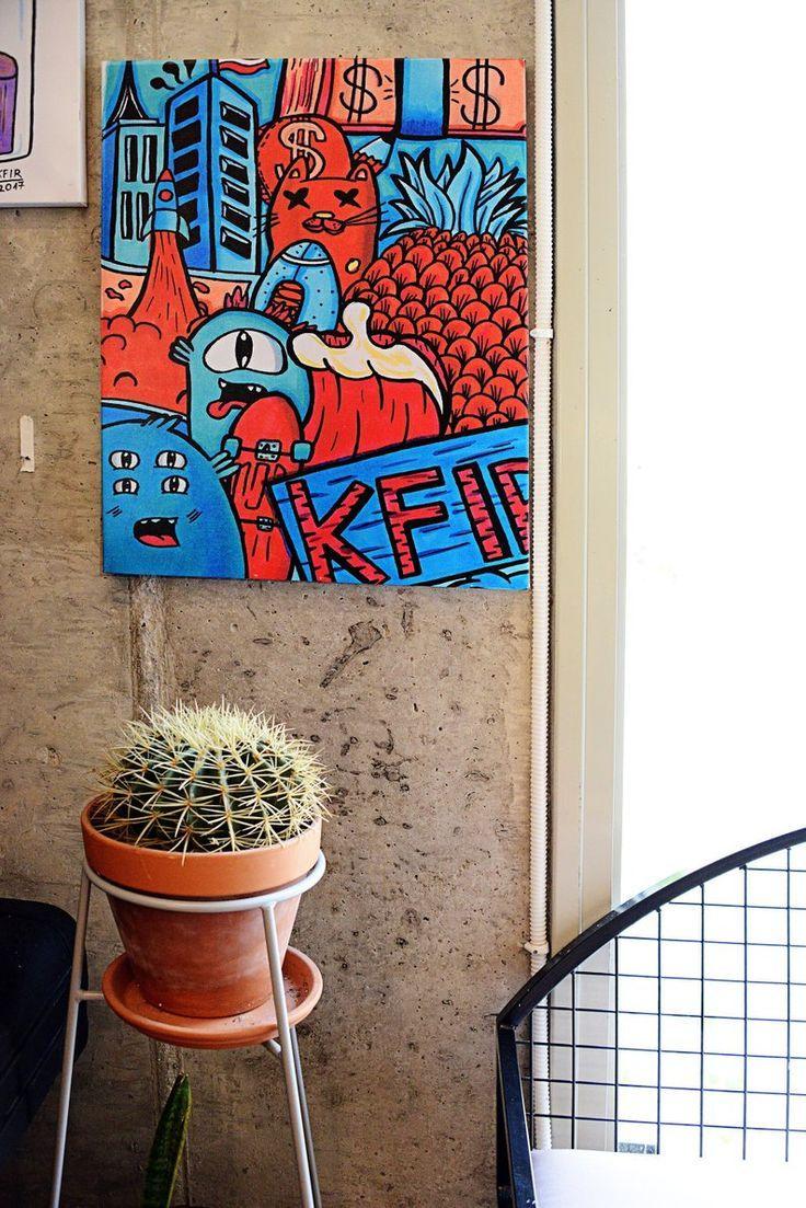 Large Wall Art Colorful Art Urban Wall Art Pop Art Canvas