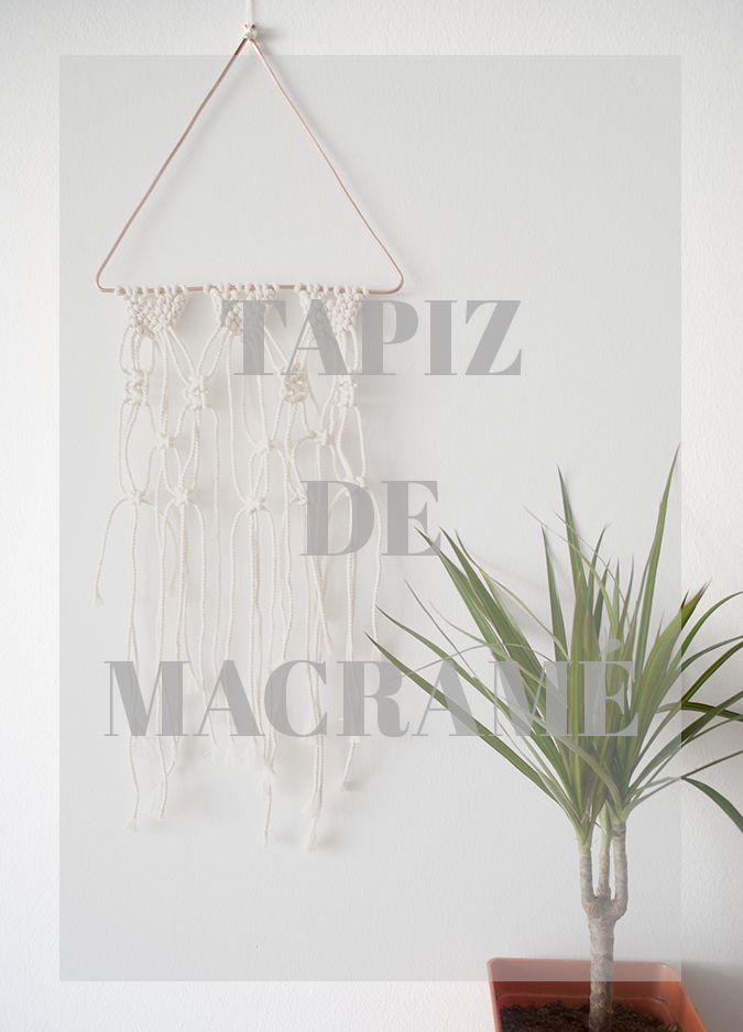 María Bonita: TAPIZ DE MACRAMÉ