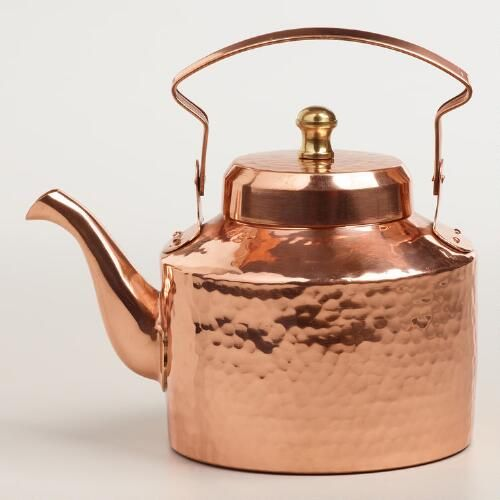 Finally, an affordable copper tea kettle! It's from World Market... it's too bad that I recently bought a kettle... :/