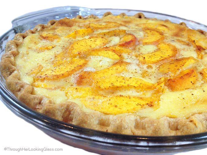 Fresh Peach Custard Pie Want to make as a custard maybe broil the top.