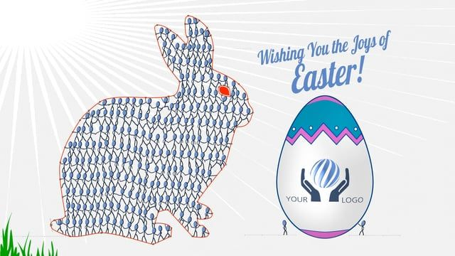 Happy Easter! Download template project: http://bit.ly/Easter_eCard Inkman stick figure is here with his cartoon friends to help you send your Easter Holiday Greetings to your friends and clients! An Easter Bunny is formed with the stickmen figures and the Easter Egg is holding your logo! Great way to express your wishes as an Easter E-card especially if your are a designer or an illustrator!      Greeting text is editable!     Easy color selections, including Inkman! Match with your logo…