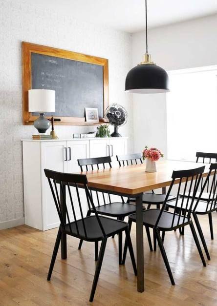 63 Super Ideas For Farmhouse Dining Room Wallpaper Light