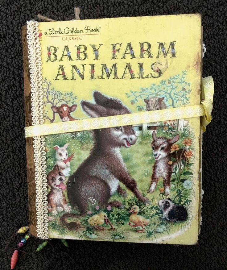 Little Golden Book Baby Farm Animals Junk Journal