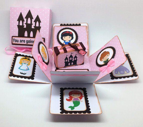 Vas a Disney viaje sorpresa tarjeta de caja explosión | Etsy | Disney trip  surprise, Exploding box card, Gift boxes with lids