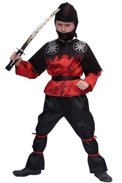 Ninja kostuum zwart/rood