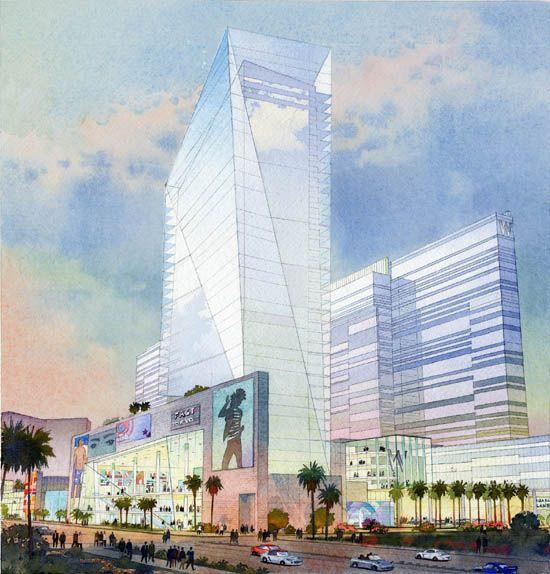 architectural rendering - gaming resort, casino, hotel