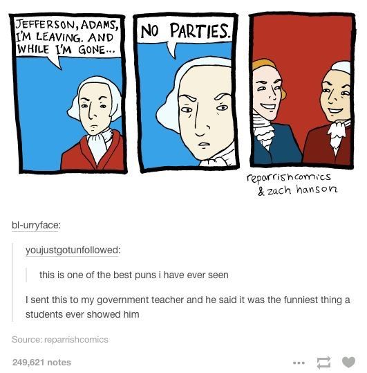 Even though Alexander Hamilton was TECHNICALLY the one who created the Federalist Party, even though John Adams was considered the leader