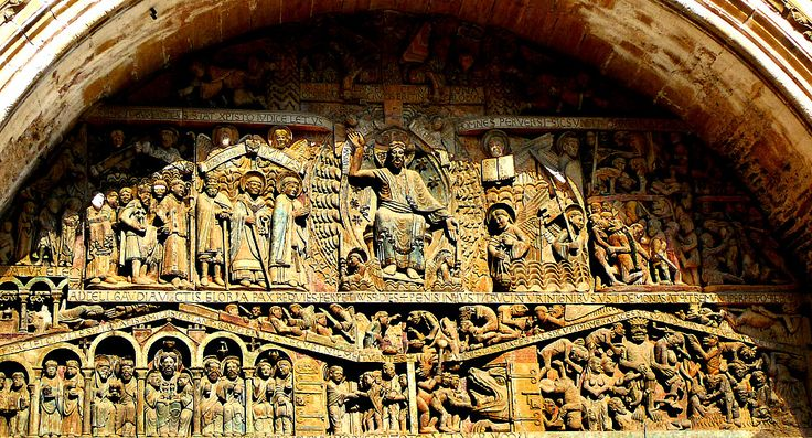 The Tympanum At The Church Of St Foy Conques The Last