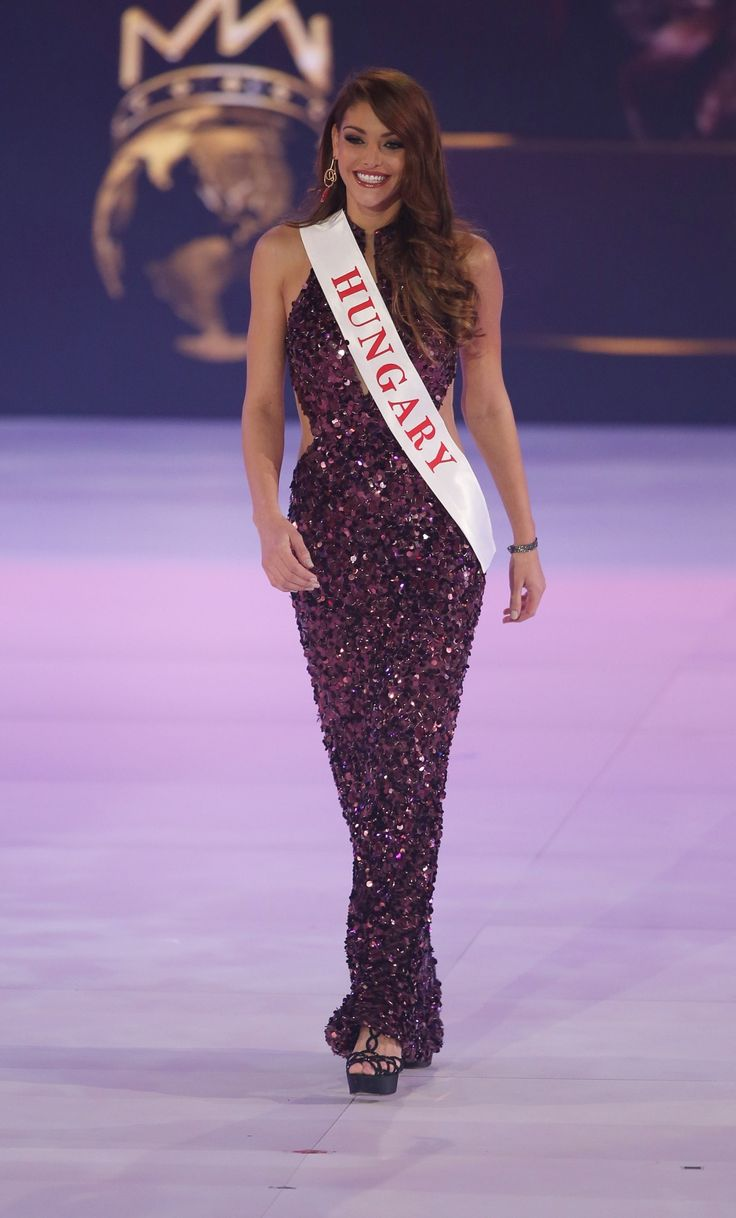 The Miss World 2014 final competition at ExCel in London. Miss Hungary Edina Kulcsar