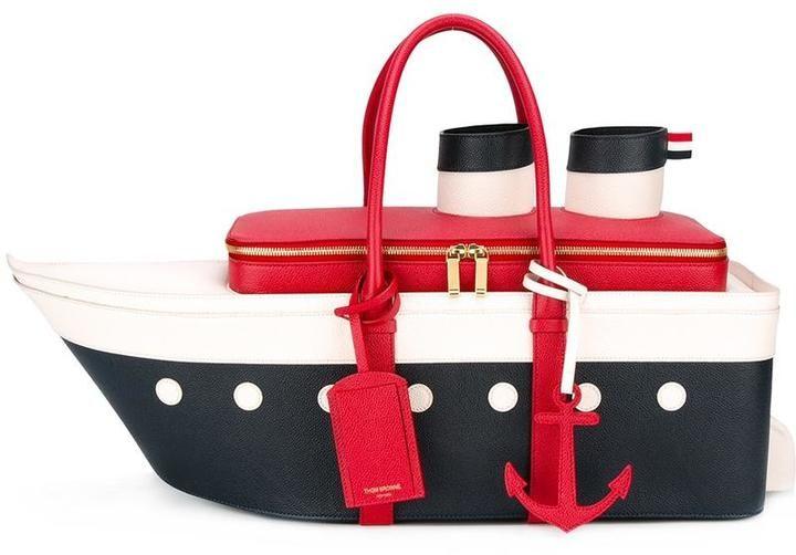 Thom Browne boat tote