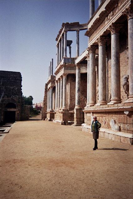 Roman Stage in Merida, Spain