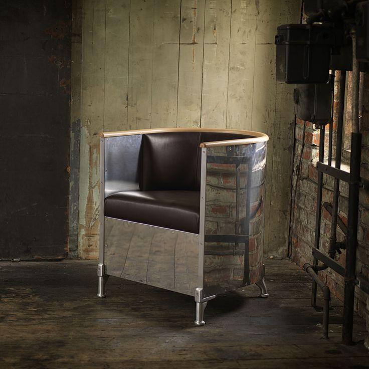 Aluminium fåtölj - vip, svart läder, blank aluminium - Fåtöljer – Möbler från Svenssons i Lammhult