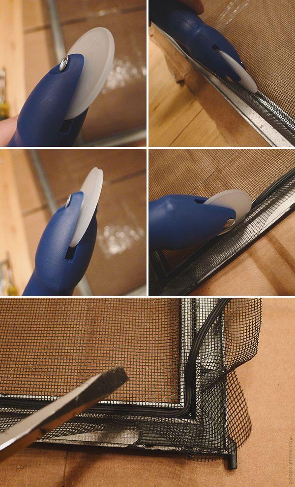painting storm windows and replacing screens. bleh job, but helpful tutorial!