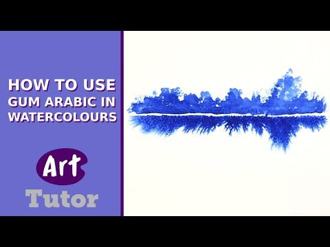 How to Use Gum Arabic in Watercolours - YouTube