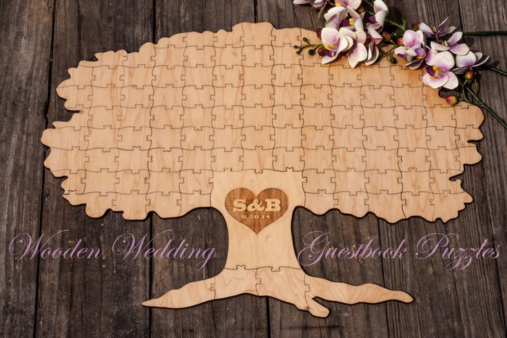 Autumn Fall TREE of Life Alternative Wooden Wedding Guest book Rustic Puzzle by WoodenWeddingPuzzles on Etsy https://www.etsy.com/listing/187623931/autumn-fall-tree-of-life-alternative