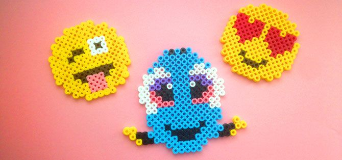HAMA, Bügelperlen, Perler Beads, Findet Dory, Finding Dory; Emojis