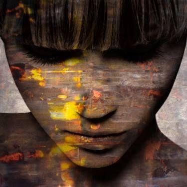 by Karin Vermeer  Painting: Acrylic, print, graingel, heavy gel and mat coating
